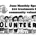 All through June, community volunteers can get acupuncture treatments for just $10.